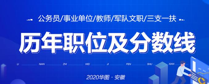 2020各类公职考试历年分数线及职位匹配查询汇总