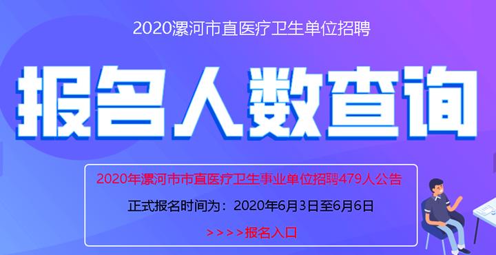 2020年漯河市直医疗卫生单位职位查询_报名人数