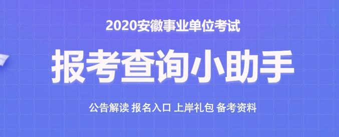 2020年安徽事业单位报考查询小助手