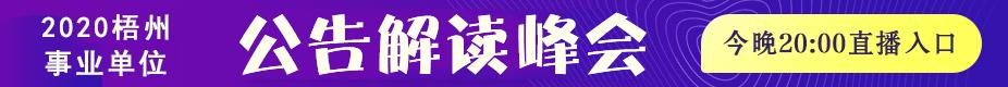 2020梧州事业单位公告解读峰会