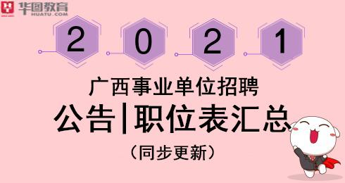 2021广西各市事业单位招聘职位表下载汇总