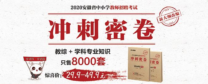 2020安徽教师招聘考试冲刺密卷+解析