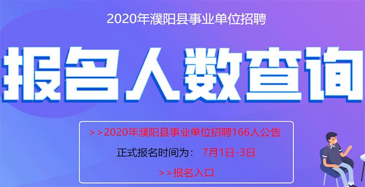2020年濮阳县事业单位招聘报名人数查询系统