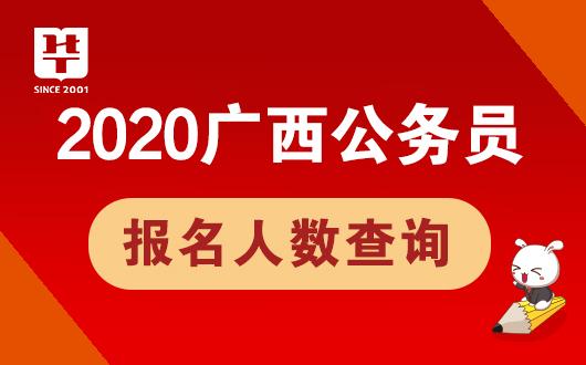 2020广西公务员报名人数查询系统