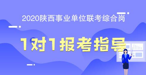2020年陕西省事业单位 综合岗 考试1对1职位选报指导