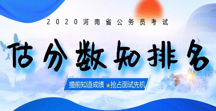 2020河南省考估分