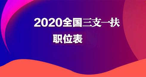 2021三支一扶职位库