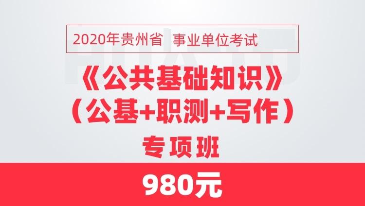 2020贵州省事业单位考试公基+职测+写作专项班