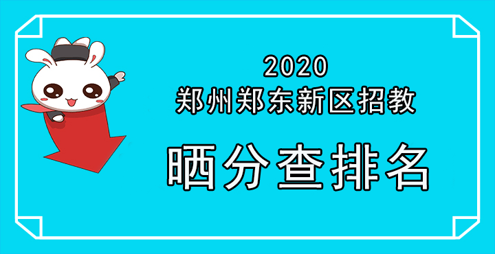 2020年郑州郑东新区招聘中小学和幼儿园教师晒分
