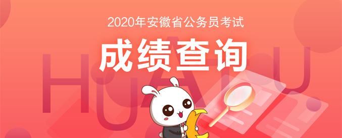 2020安徽省公务员考试笔试成绩查询