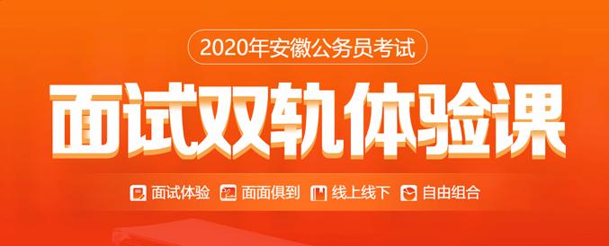 2020年安徽公务员考试面试双轨体验课