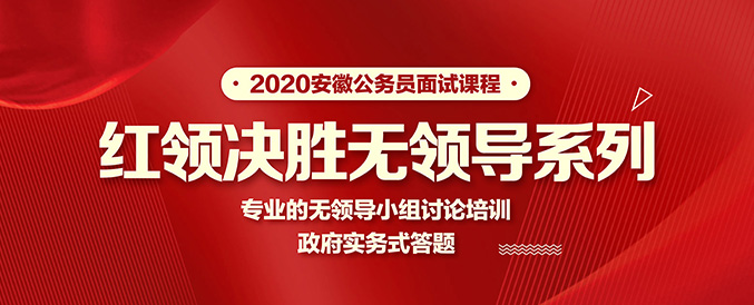2020安徽公务员无领导面试课程