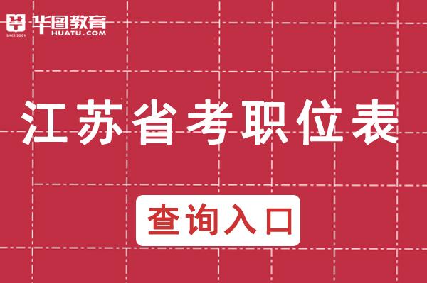 2021年江苏省公安机关职位表_江苏省公务员官网