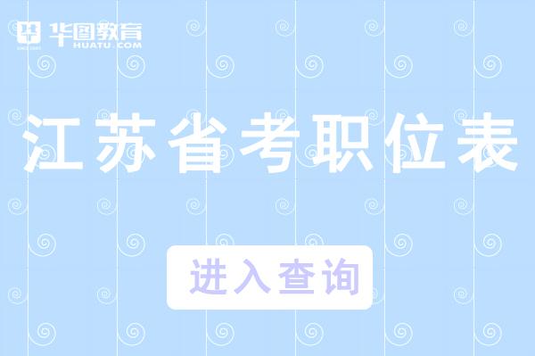 江苏省考2021职位表_江苏省考报名入口官网