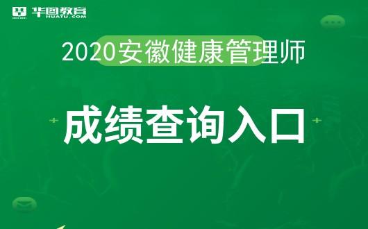 2020年安徽健康管理师成绩什么时候公布-中国卫生人才网