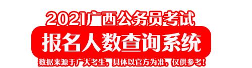2021广西公务员考试报名人数查询系统