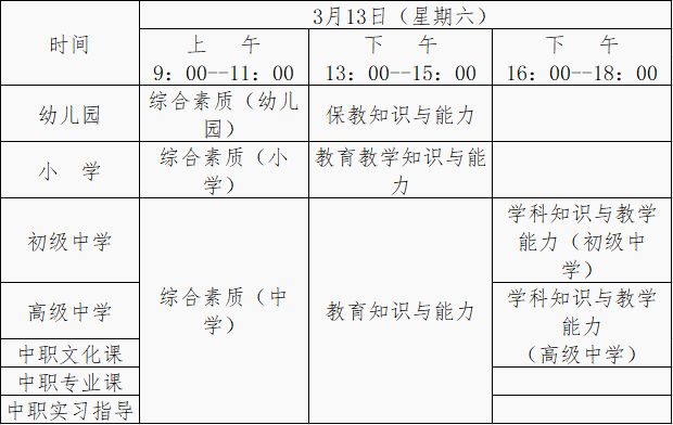 云南省2021年上半年中小学教师资格考试(笔试)公告!