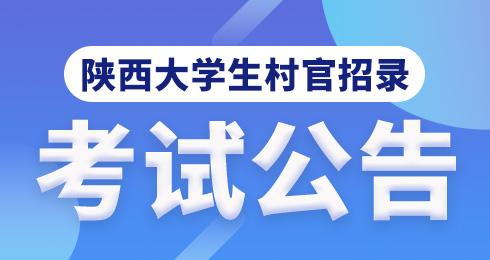 大学生村官招录考试公告