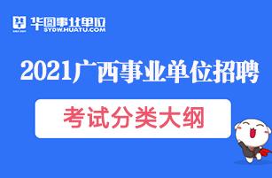 广西事业单位招聘考试公共科目笔试考试大纲(2021版)