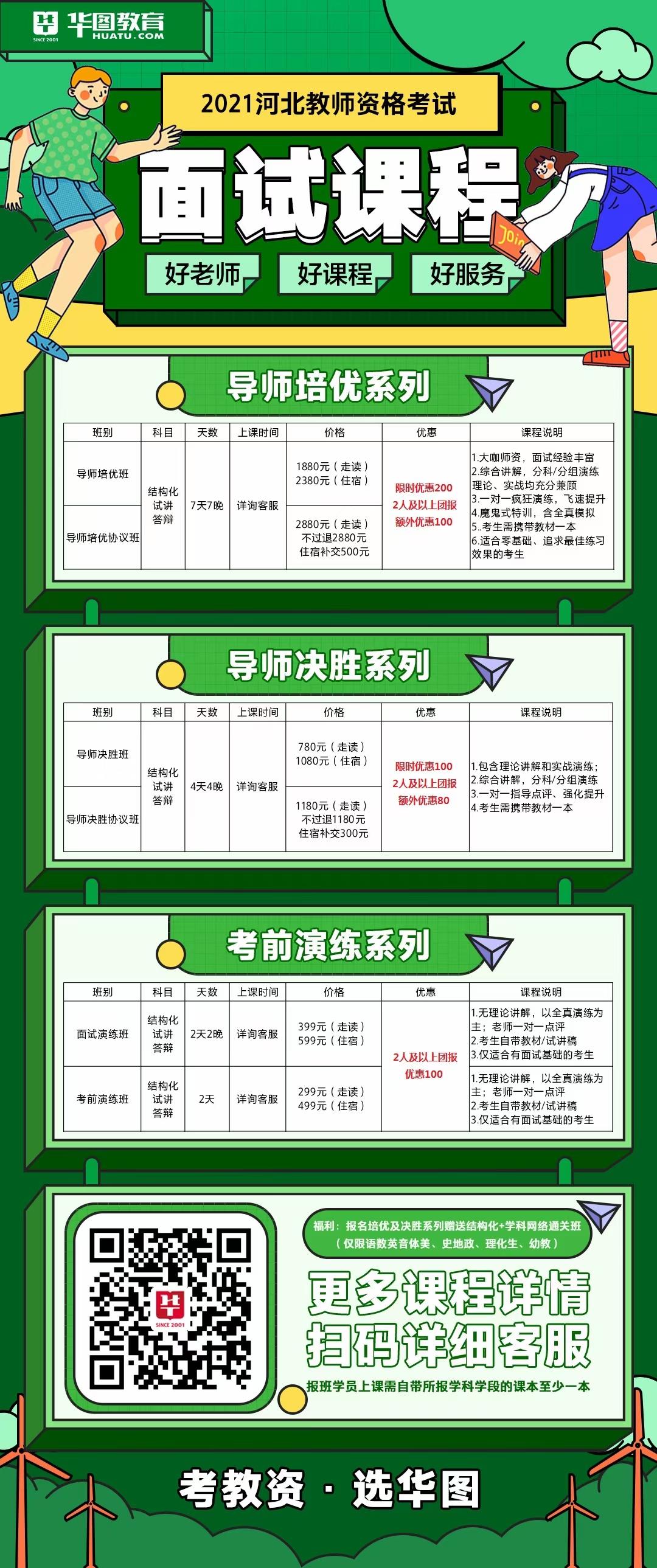 2021河北教师资格证面试课程