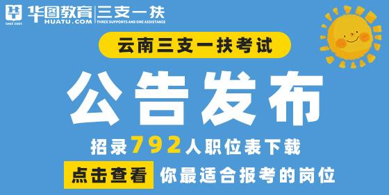 2021云南三支一扶公告