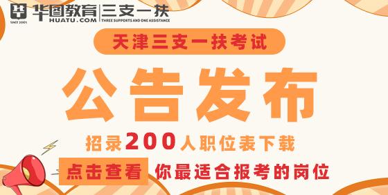 2021天津三支一扶公告