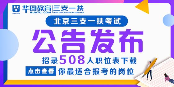 2021北京三支一扶公告