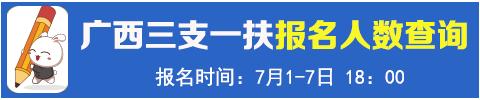 2021广西三支一扶考试报名人数查询