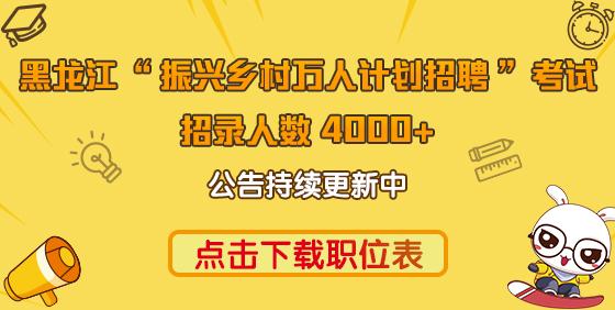 """2021年黑龙江""""助力乡村振兴万人计划""""招聘公告汇总"""