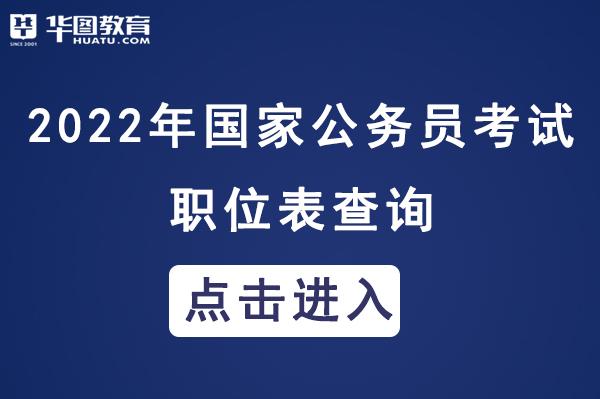 中央机关及其直属机构2022年度考试录用公务员职位表下载