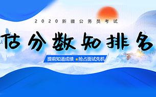 2020新疆省考笔试估分