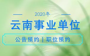 2020云南省事业单位公告预约